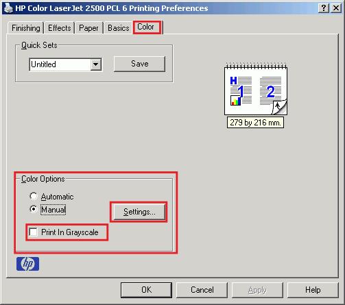 Как сделать черно белую печать на цветном принтере canon