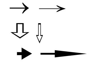 Как сделать стрелки вниз 45