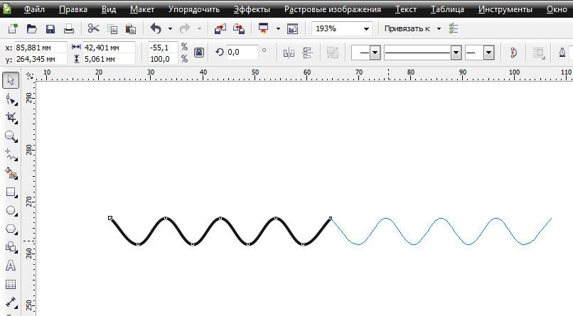 Как сделать волнистую линию в фотошопе фото 245